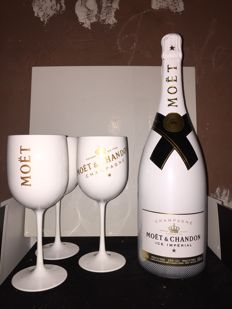 Champagne Moët et Chandon Ice Imperial Demi-Sec with 6 Moët et Chandon Ice glasses - 1 magnum (1.5 L) and 6 glasses