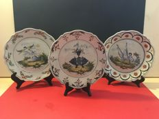 Lot with 3 old ceramic dishes - French Revolution