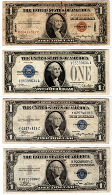 USA/Hawaii-70 dollars Silver certificate, Federal Reserve notes and United State notes-Including STAR-Replacement