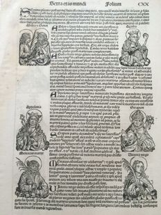 Hartmann Schedel - Leaf from Schedel's Liber Chronicarum (f. CXX) - 1493