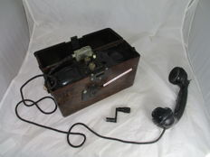 German bakelite field telephone - Wehrmacht 1944. WW2.
