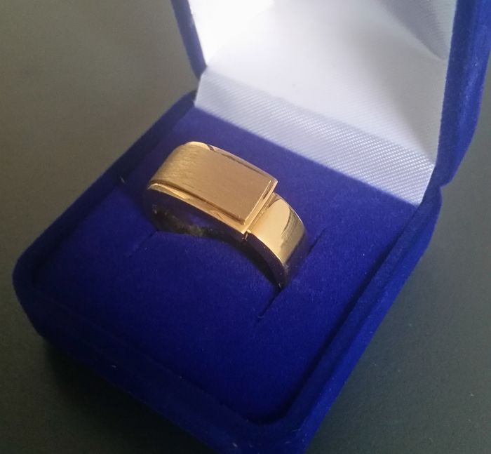 18kt gold ring for men - 21mm