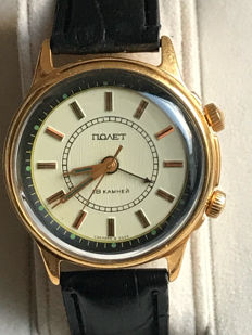 Poljot  Men's-1965's-with Alarm. (AU). USSR/СССР