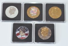"USA – Half Dollar 2013 'Kennedy"" in five different editions"