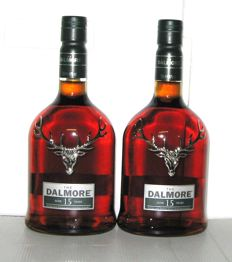 Dalmore 15 years old - Highland - 70cl - 40% - lot 2 bottles