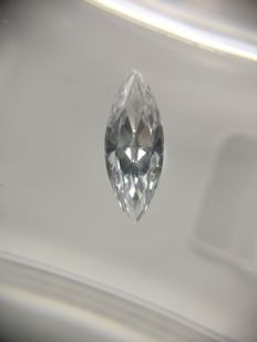 0.48 ct Marquise cut diamond D VVS2
