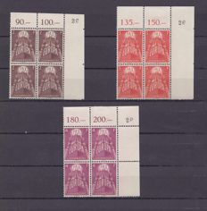 Luxembourg 1957 - Europa PAX blocs of 4 - Michel 572-574