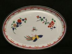 Meissen Porcelain Centrepiece with edges in silver, Germany