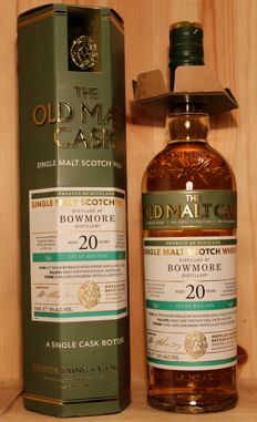 Bowmore 1996/2017, aged 20 years, 70cl/700ml, 50%vol., Single Cask Malt Scotch Whisky, The Old Mal Cask / Hunter Laing