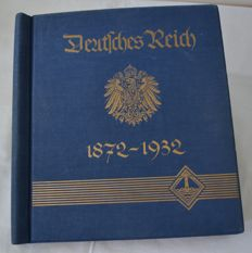 German Empire/Reich 1872 / 1932 - collection on blank sheets in an old binder.