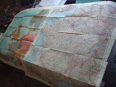 """Third Reich; lot of 2 x old original maps from 1939/1940 """"France"""" with special labelling of the harbours of war and """"England,France and the sea"""" WW2."""