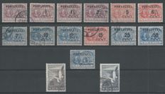The Netherlands 1907/1951 - Postage due stamps 'De Ruyter' and airmail 'Zeemeeuw' - NVPH P31/P43 + LP12/LP13