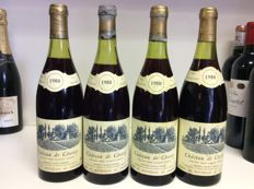 1980 Domaine Jacques Germain  Chateau de Chorey 'Chorey-les-Beaune', Cote de Beaune, Burgundy, France, 4 bottles 0,75l