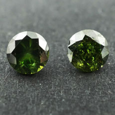 Fancy Green Diamond - 0.24 ct
