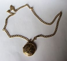 Vintage 9ct gold necklace and locket