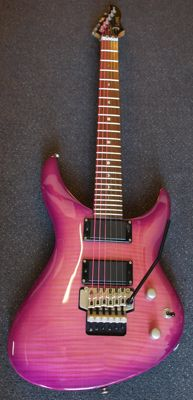 New Luna Andromeda e-guitar, Floyd Rose tremolo, color Grape