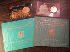 Vatican – 2 Euro, 2010 and 2013 + 2x coincard