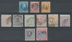 The Netherlands 1852/1888 - King Willem III and Coat of Arms - NVPH 4/6, 13/18, 28, 29