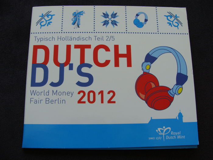 The Netherlands - Year collection 2012 'WMF Berlijn Dutch DJ's' in blister
