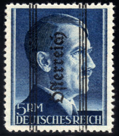 Austria, 1945 – Face, 5 Marks, with overprint, Unificato no. 575A