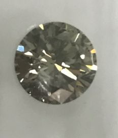 1.17ct Round Brilliant-Cut  Diamond Natural  color Champagne  +++Not  Reserve Price +++
