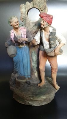 Large polychrome terracotta sculptural  group - Neapolitan School - late 19th c.