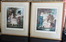 Two English framed colour engravings, fist half of the 20th century.