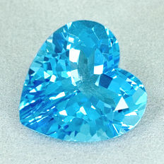Swiss blue topaz - 11.28 ct
