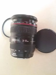 Canon EF 24-105mm zoom - f/1:4.0 L throughout all the zoom range - Stabilized IS USM ultrasonic