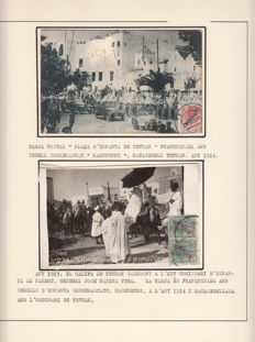 Morocco Spanish Administration 1903/1930 – Alfonso XIII. Collection of stamps, letters, postcards, fragments, telegraphs, cancellations, colours on overprint and bisects.