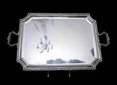 Silver two handled tray, France, XIX/XX century
