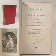 William Hayley. - The triumphs of temper. A poem in six cantos. - 1799