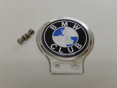 Vintage Chrome BMW Club Car Auto Badge Emblem with grille fixings included