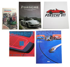 Collection of 5 Porsche books.
