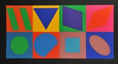 Victor Vasarely - 8 Squares