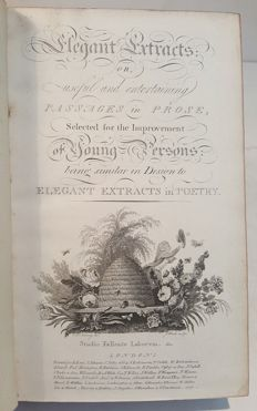 Elegant extracts or useful and entertaining passages in prose - 2 volumes - 1797