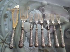 Beautiful antique 800 silver cutlery, 8 pieces