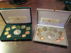 Vatican – 2005 and 2006 proof divisional coin series (includes silver).