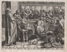 Ambrosius Francken ( 1544 - 1618)  Attributed - The Parable of the Wedding Banquet 2 - 1585