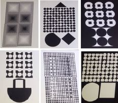 Victor Vasarely - Corpusculaires (six works)