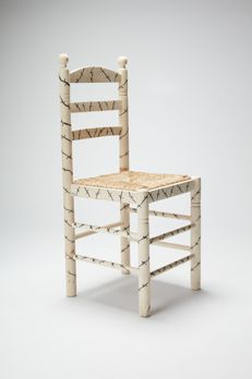 Iñaki López - Custom made wood and wicker chair, 2017