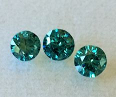 "Lot of 3 natural diamonds ct. 1.01 "" No reserve price."""