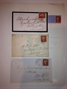 Great Britain, Queen Victoria - selection of 12 Pages including stamps and covers