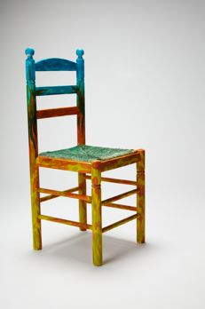 Manuel Martín Cuenca - Customized wood and wicker chair, 2017