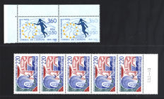 France, 1988 – small selection of variations – Yvert & Tellier catalogue No. 2535b-2556b-CE101