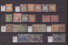German Empire/Reich 1872/1945 collection with official stamps.