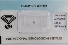 Natural Fancy Pink Diamond 0.05 ct  with IGI cert ***No minimum price***
