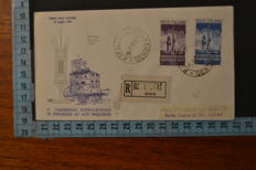 Italy, 1950 – lot of 2 first day cover Venetia Club – Radio Broadcasting and Holy Year