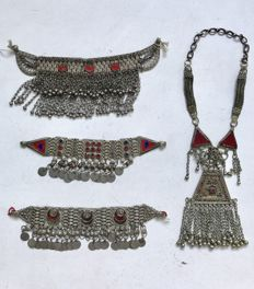 Collection of Kuchi jewelry - Afghanistan - mid 20th century