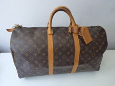 Vintage and Louis Vuitton Keepall 50.
